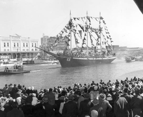 Old Photo of the Floribanca in the Gasparilla Day Parade