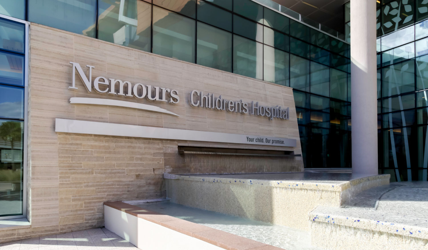 The Nemours Children's Hospital Entrance in Orland, Florida
