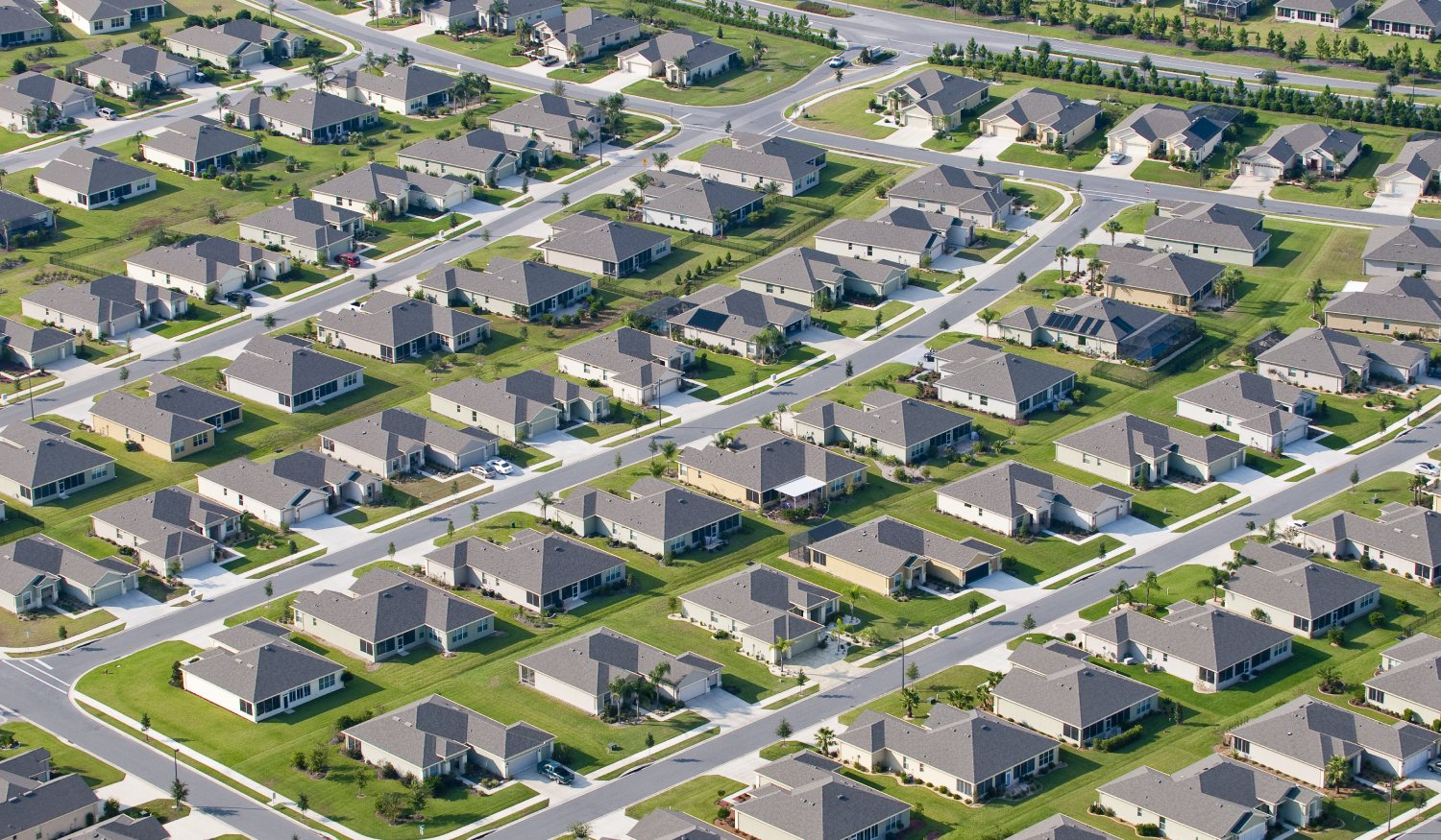An aerial photo of a large residential development community in Florida