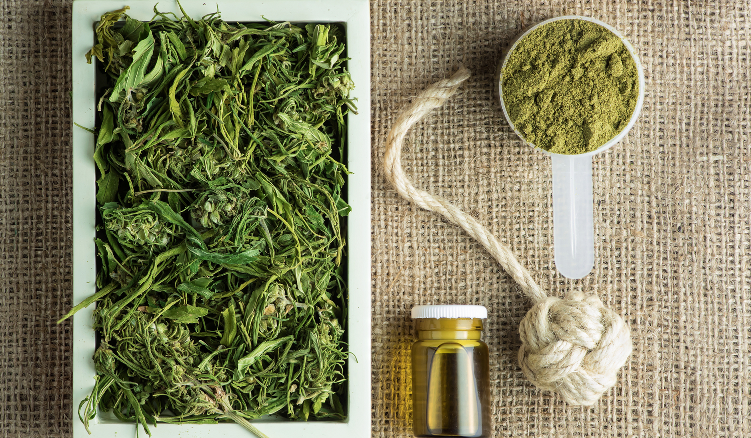 Industrial Hemp products on a table
